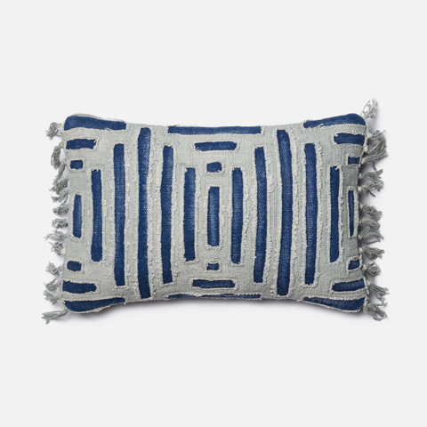 Image of Blue and Grey Pillow