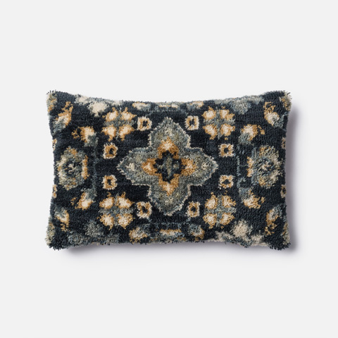 Image of Blue and Multicolor Pillow