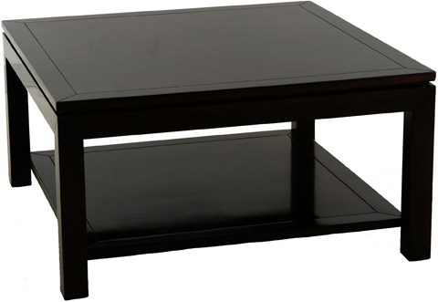 Lorts - Square Cocktail Table with Shelf - 310103