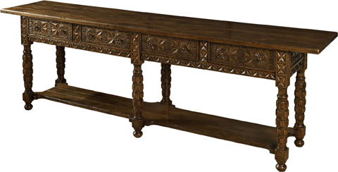 Lorts - Two Drawer Console Table - 9688
