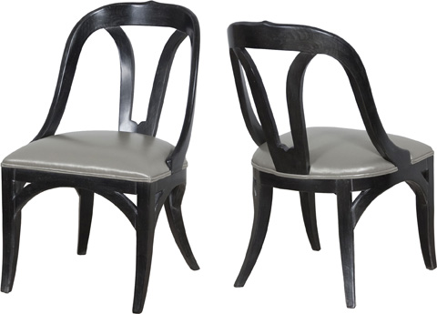 Lorts - Rounded Back Side Chair - 9798