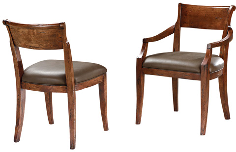 Lorts - Upholstered Seat Arm Chair - 9815
