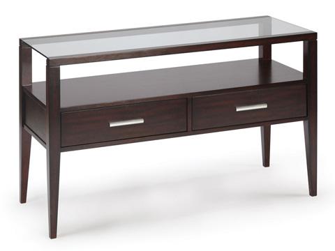 Magnussen Home - Baker Sofa Table in Merlot Finish - T1393-73