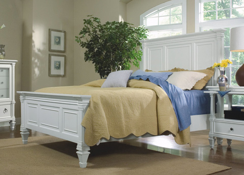 Magnussen Home - Ashby Park Panel Bed in Patina White Finish - 71960 BED