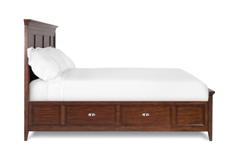Image of Harrison Cherry Panel Storage Bed