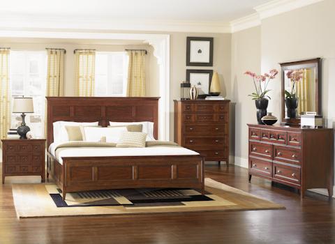 Image of Harrison Cherry Panel Bedroom Set