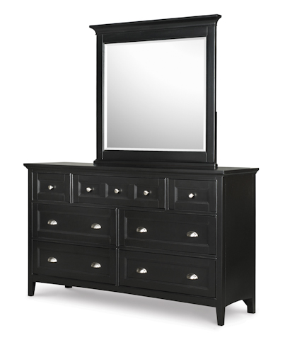 Image of Southampton Black Double Dresser with Mirror