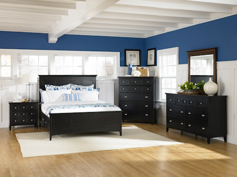 Image of Southampton Black Panel Bedroom Set