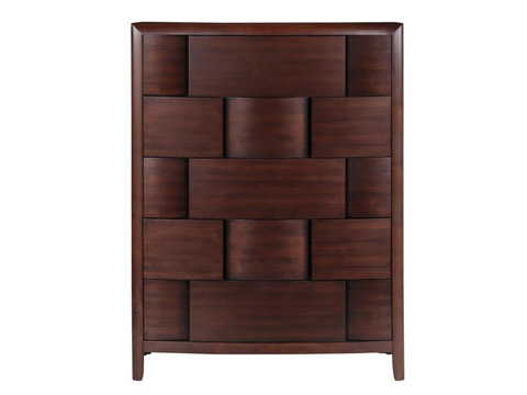 Image of Nova Chestnut Five Drawer Chest