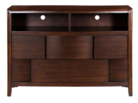 Image of Nova Chestnut Two Drawer Media Chest
