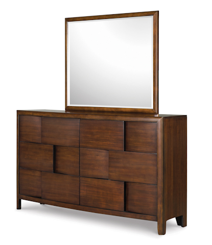 Magnussen Home - Nova Chestnut Six Drawer Dresser with Mirror - B1428-20/40