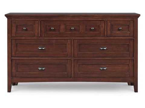 Image of Riley Cherry Seven Drawer Dresser