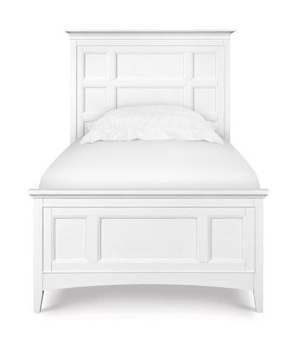 Image of Kenley White Panel Bed