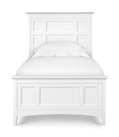 Image of Kenley White Panel Bed with Storage Siderails