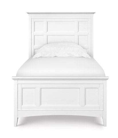 Magnussen Home - Kenley Panel Bed Headboard in White - Y1875-54H/64H