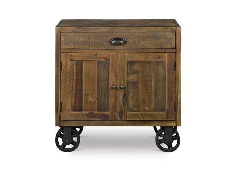 Image of Door Nightstand with Casters