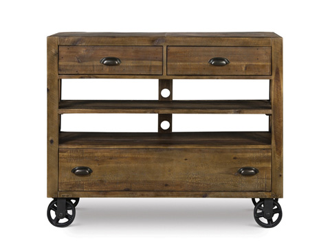 Image of Media Chest with Casters