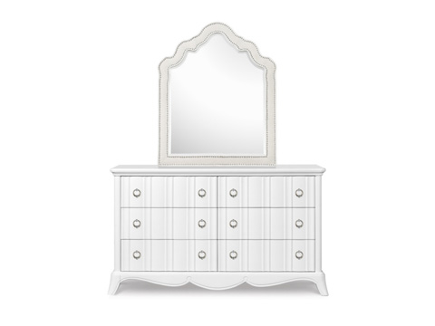 Image of Shaped Upholstered Mirror