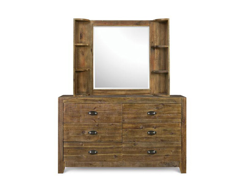 Image of Landscape Mirror with Shelves
