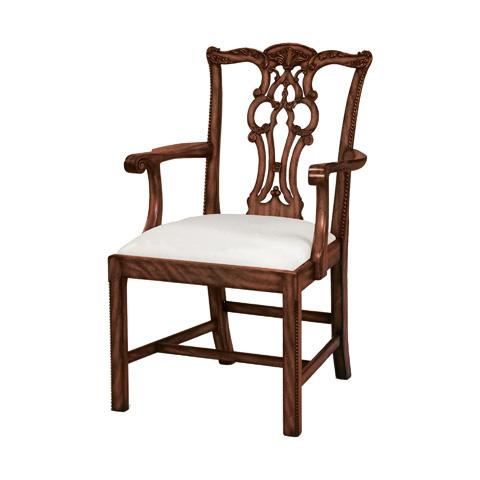 Maitland-Smith - Fiddle Back Arm Chair - 4130-596