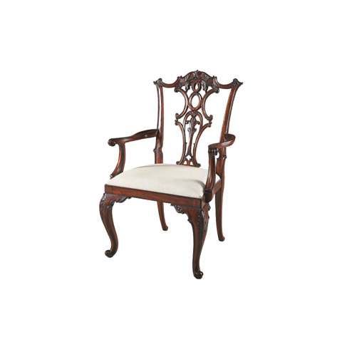 Image of Pierced Back Arm Chair