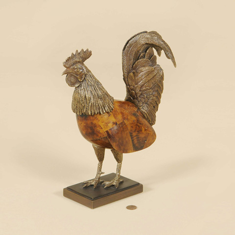 Maitland-Smith - Antique Finished Cast Brass Rooster - 1000-469