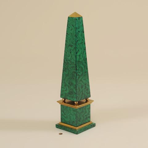 Maitland-Smith - Faux Malachite Obelisk - 1043-144