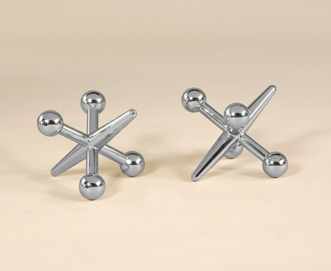Maitland-Smith - Set of 2  Cast Brass Jacks - 1054-226