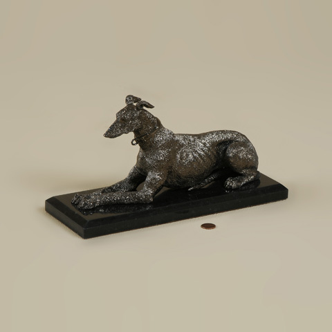 Maitland-Smith - Black Nickel Cast Brass Greyhound - 1054-238