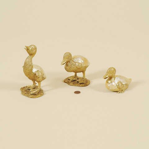 Maitland-Smith - Set of Three Cast Brass Ducklings - 1054-264