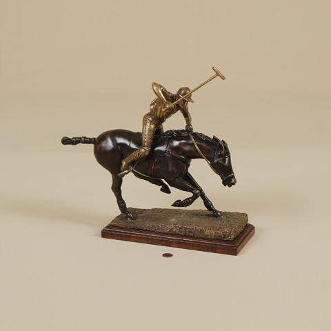 Maitland-Smith - Cast Brass Polo Player - 1054-275