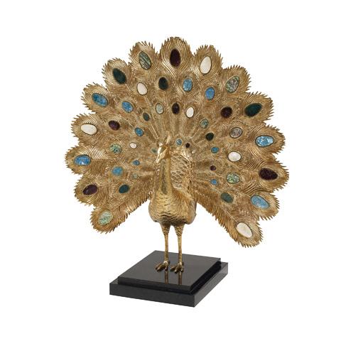Maitland-Smith - Cast Brass Peacock - 1054-284