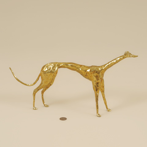 Maitland-Smith - Cast Brass Greyhound - 1054-303