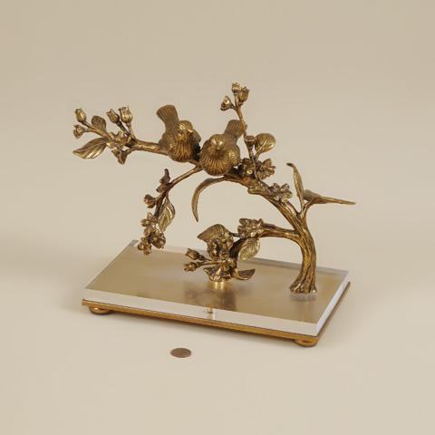 Maitland-Smith - Cast Brass Birds Sitting on Tree Branch - 1054-309
