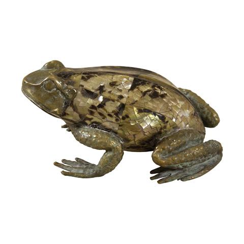 Maitland-Smith - Pompeian Brass Inlaid Frog - 1054-946