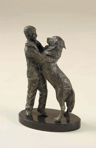Maitland-Smith - Brass Boy with Dog - 1058-359