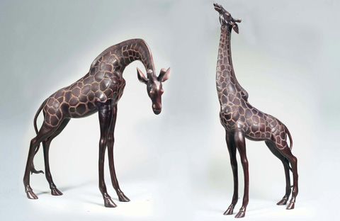 Maitland-Smith - Set of Two Giraffes - 1058-785
