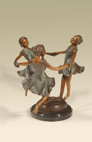 Maitland-Smith - Brass Dancing Female Figures - 1058-890