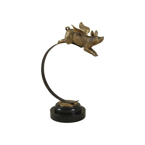 Maitland-Smith - Cast Brass Flying Pig - 1059-266