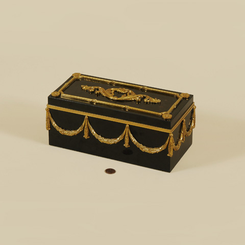 Maitland-Smith - Black Penshell Inlaid Box - 1100-567