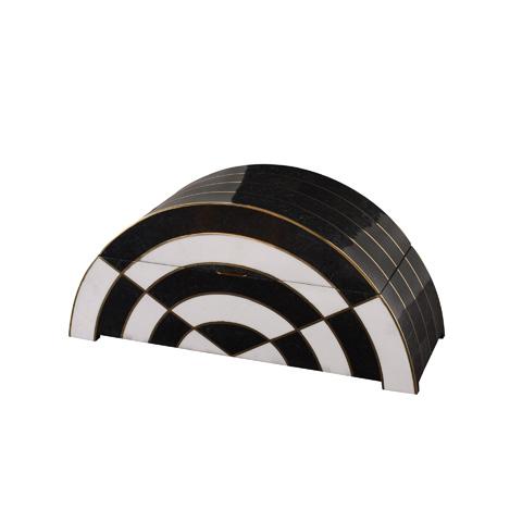 Maitland-Smith - Black and White Stone Inlaid Box - 1100-572
