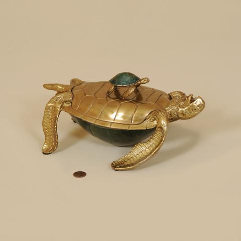 Maitland-Smith - Cast Brass Turtle Box - 1154-808