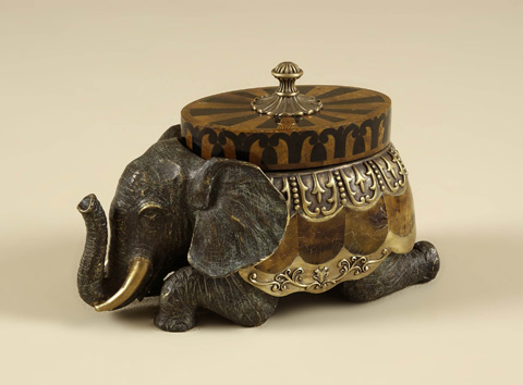 Maitland-Smith - Cast Brass Elephant Box - 1158-011