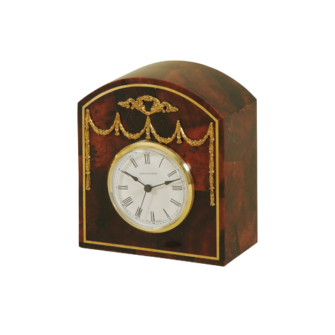 Maitland-Smith - Red Table Top Clock - 1200-332