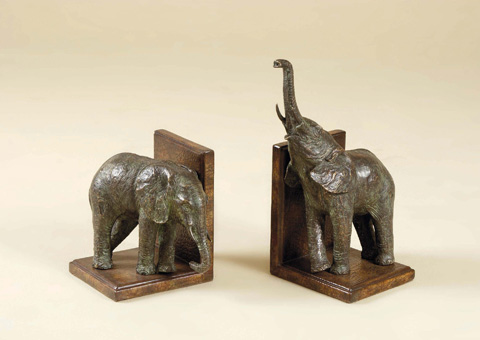 Maitland-Smith - Pair of Elephant Bookends - 1254-231