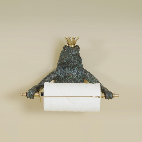 Maitland-Smith - Brass Frog Paper Towel Holder - 1254-313