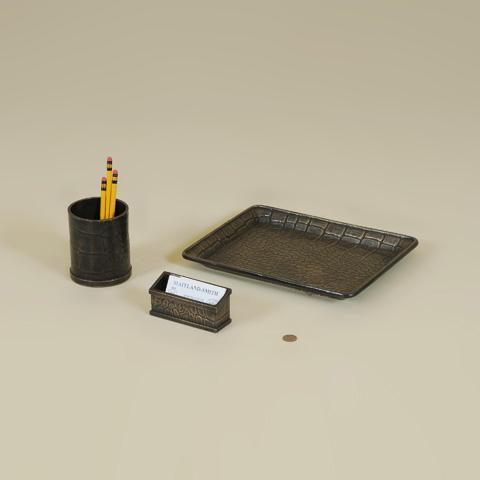 Maitland-Smith - Three Piece Brass Desk Set - 1254-315