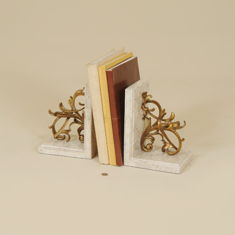 Maitland-Smith - Decorative Brass Bookends - 1254-324