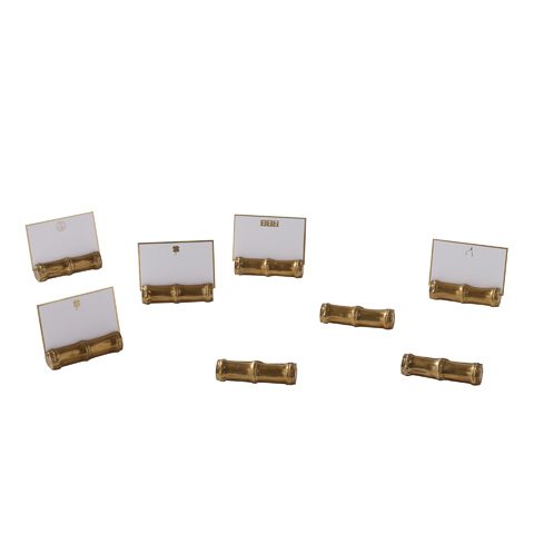 Maitland-Smith - Cast Brass Place Card Holders - 1254-337