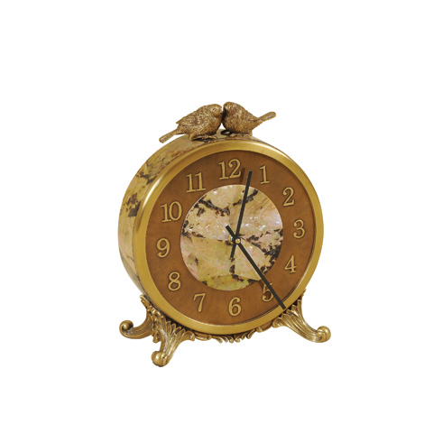 Maitland-Smith - Brown Table Top Clock - 1300-110